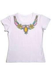 necklace авторский рисунок на футболке