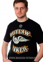 байкерская футболка outlaw biker