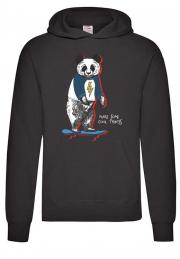 худи panda skating hoodie black