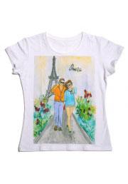 paris футболка с авторским рисунком
