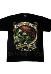 pirate skull loyal none футболка череп