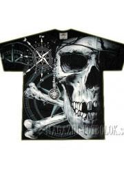 Пиратская футболка череп и кости