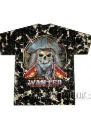 пиратская футболка с черепом wanted