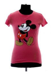 розовая футболка mickey mouse vintage