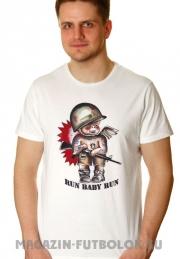 футболка run baby run