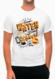 Футболка Save Water Drink Beer