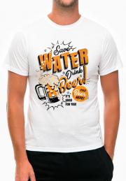 Футболка Save Water Drink Beer