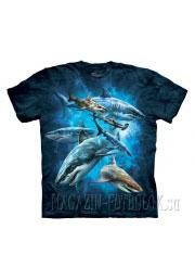 shark collage живые футболки 3d mountain