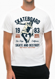 Футболка Skateboard 1983 White