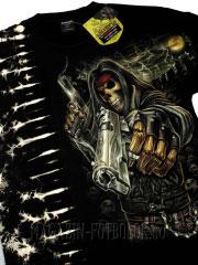 skeleton gangster футболка 3д изображение