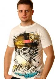 Молодёжная футболка с Черепом в Шляпе