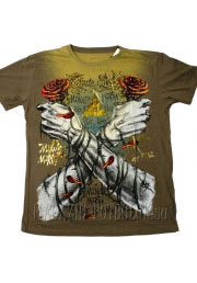 стильная футболка two hands two roses