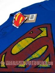 superman logo retro flock