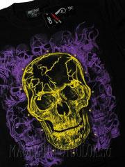 светящийся череп футболка с эффектом 3d