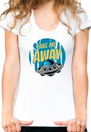 женская футболка take me away  girls
