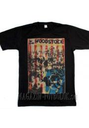 витнажная футболка woodstock