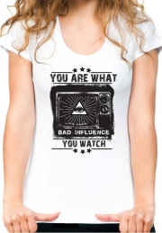 Женская футболка You Are What You Watch Girls
