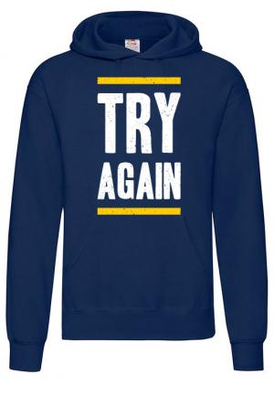 худи try again hoodie blue