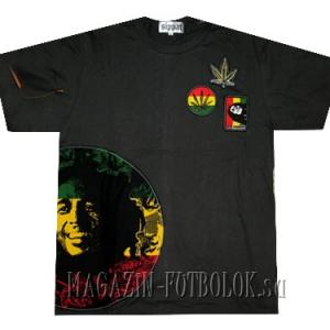 уникальная футболка bob marley с нашивками