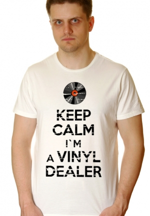 футболка keep calm i`m a vinyl dealer - на заказ