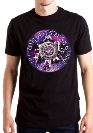 футболка whitesnake purple tour