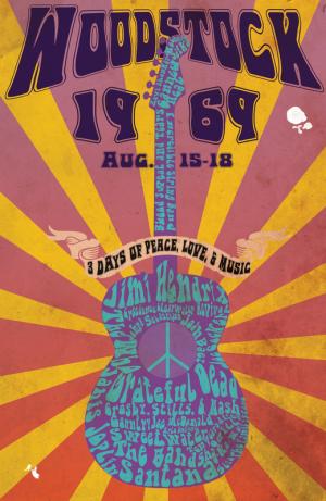 постер woodstock poster