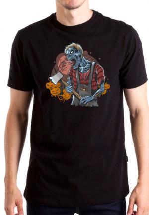 футболка zombie with axe