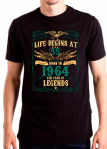 Футболка Life Begins at 55